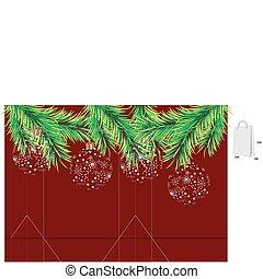 Template for christmas bag