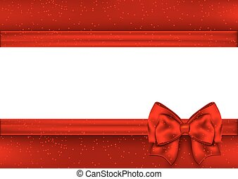 Template for Christmas greeting card. Border red tape