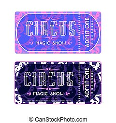 Template for circus ticket