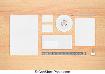 Blank business cards and cd business cards and compact disk template for corporate identity letterheads business cards envelope pencil cd or reheart Images