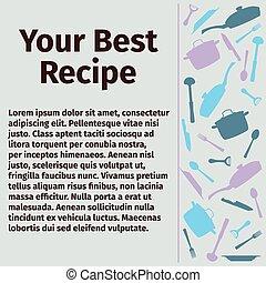 Template for culinary recipe