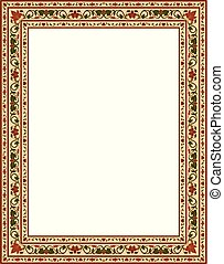 Template for frame.