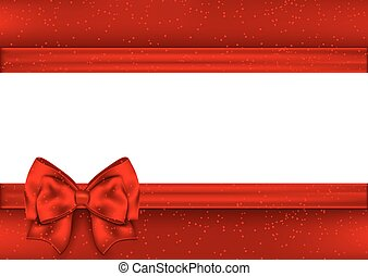 Template for greeting card. Border red tape.