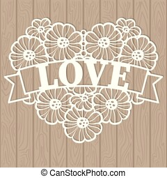 Template for laser cutting. The heart of lace consists of ...