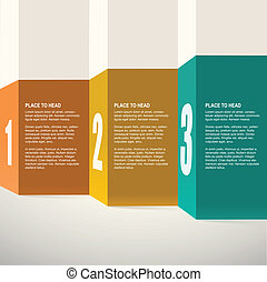 Template for presentation. Infographics design. Vector