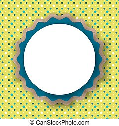 Template for text on a colored background, circles