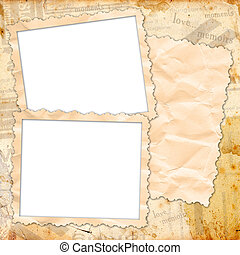 Template for the design of photo albums and photo frames -...