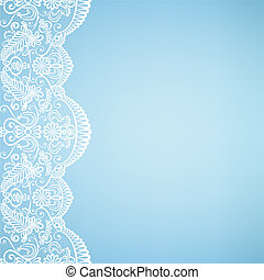 card with lace - Template for wedding, invitation or ...
