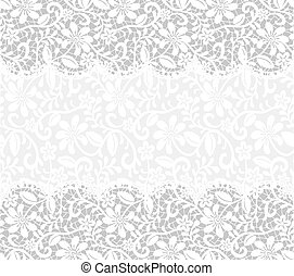 card with lace fabric background - template for wedding, ...