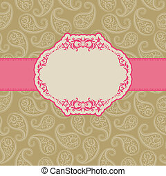 Template frame design for greeting card . Background - ...