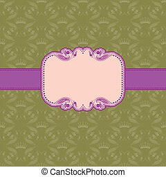 Template frame design for greeting card . - Vector template...