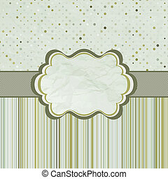 Template frame design for greeting card. EPS 8
