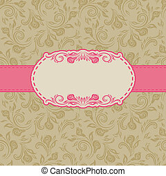Template frame design for greeting card . Seamless...