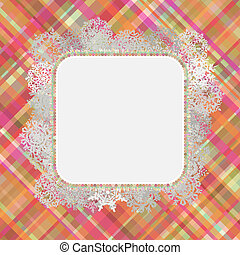 Template frame design for xmas card. EPS 8
