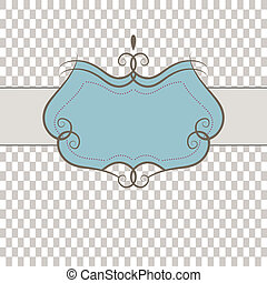 Template frame . Vector illustration