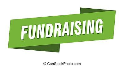 template., fundraising, címke, szalag lobogó, aláír