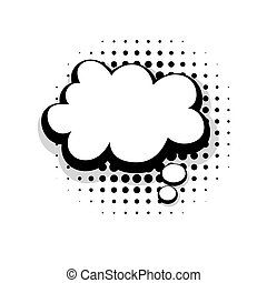 Template funny comic speech cloud bubble