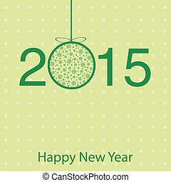 Template greeting cards for 2015 new year greetings. Vector.