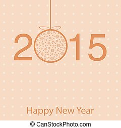 Template greeting cards for new year greetings. 2015.