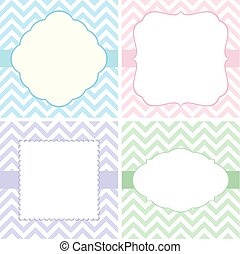 template greeting cards set