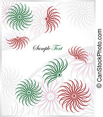 Template greeting card,vector