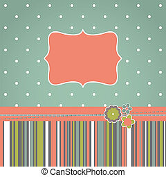 Template greeting retro design card