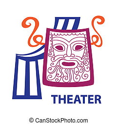 theater - Template icon Art - a symbol of theater. Vector ...