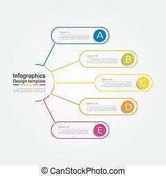 template., illustration., vecteur, infographic, conception