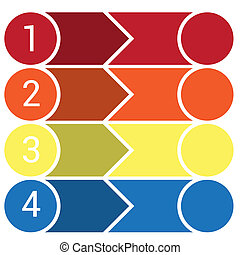 Template Infographic 4 horizontal strips
