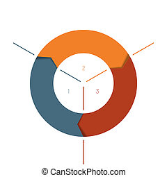 Template Infographics cyclic processes, colour ring from ...