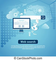 Template Internet Banner With Copy Space Web Search Concept
