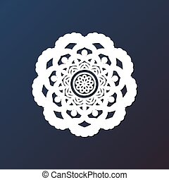 Template laser cutting mandala from paper, plywood, iron CNC...