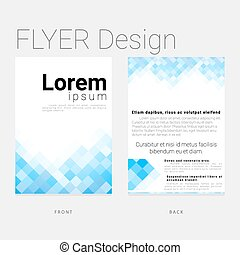 template leaflet in modern style