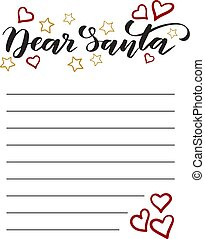 Template Letter to Santa