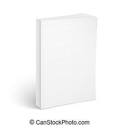 template., livre, vide, vertical, softcover