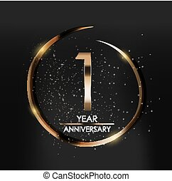 Anniversary flyers or invitations vector templates 1 one year template logo 1 year anniversary vector illustration stopboris Image collections
