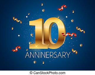 Template Logo 10 Years Anniversary Illustration