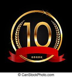 Template Logo 10 Years Anniversary Vector Illustration