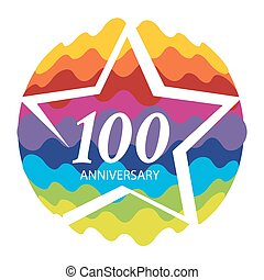 Template Logo 100 Anniversary Vector Illustration