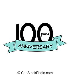 Template Logo 100 Years Anniversary Vector Illustration...