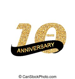 Template Logo 10th Anniversary