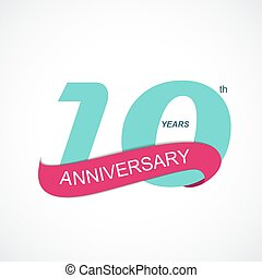 Template Logo 10th Anniversary Vector Illustration