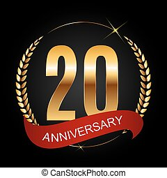 Template Logo 20 Years Anniversary Vector Illustration