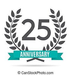 Template Logo 25 Years Anniversary Vector Illustration