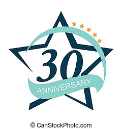 Template Logo 30 Anniversary Vector Illustration EPS10