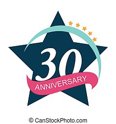 Template Logo 30 Anniversary Vector Illustration EPS10