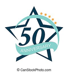 Template Logo 50 Anniversary Vector Illustration