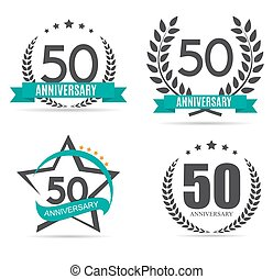 Template Logo 50 Years Anniversary Vector Illustration EPS10