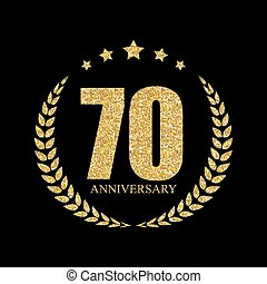 Template Logo 70 Years Anniversary Vector Illustration