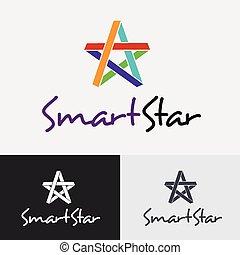 template., logo, vecteur, conception, étoile